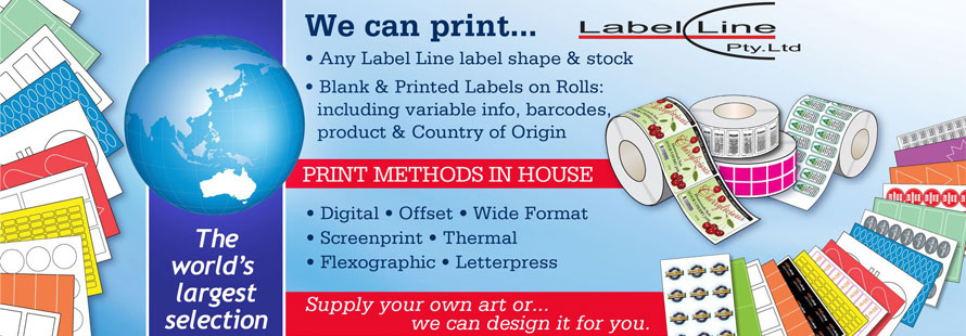 We can print on any of our labels! Ask us for a free quote
