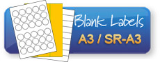 Blank Labels on A3 and SR-A3 sheets