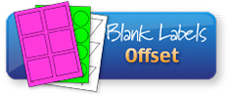 Blank Labels for Offset Printing on A4 sheets